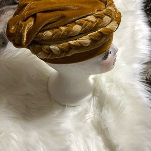 Women's velour Gold Hat wrap